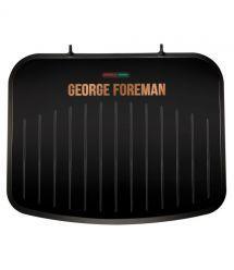 Гриль George Foreman 25811-56 Fit Grill Copper Medium, 1630 Вт, антипригарное покрытие, черный\медь