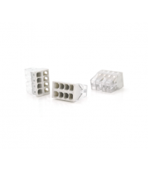Самозажимная 8-проводная клемма WAGO К773-208, 8-pin, прозрачно-серая