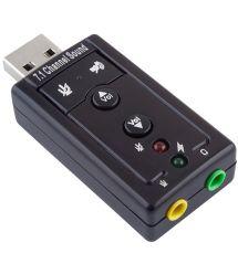 Контроллер USB-sound card (7.1) 3D sound (Windows 7 ready), OEM