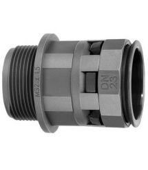 DKC Муфта труба-коробка DN23мм, M25х1.5, полиамид, черная