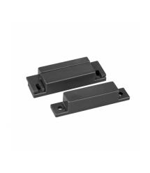Датчик магнитоконтактный MC-31, 64*12.8*12.8 мм, пластик, черный, под саморез, шурупы, 10 штук в упаковке, цена за упаковку