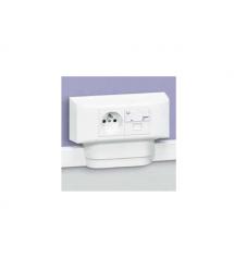 Legrand DLPlus Legrand коробка Mosaic (4 модуля) для кабель-каналов глубиной 12.5мм, 16мм, 20мм