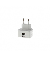 ЗУ сетевое Remax Moon RMT-7188 3.1A 2*USB 220V евровилка (EU) white
