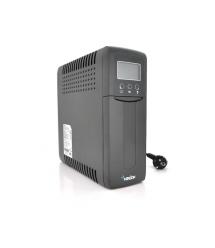 ИБП Merlion UDU 1000 (600W) LСD, 162-270VAC, AVR 1st, 1x12V9Ah, 4 SHUKO, plastik Case Q2 (410x99x280) 8,5кг