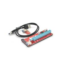 Riser PCI-Ex x1 to x16, SATA, USB 0,6 м