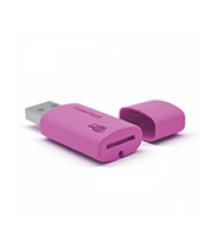 Кардридер внешний USB 2.0, формат MicroSD, пластик, Orange, (Техпакет)