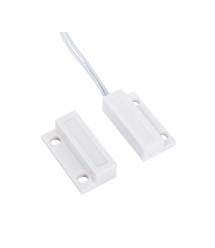 Датчик магнитоконтактный с проводом 30 см MC-38, 27*14*10 мм, пластик, белый, п
