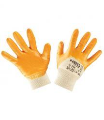 Neo Tools 97-631-8 Перчатки рабочие, хлопок, частично покрытые нитрилом, р. 8