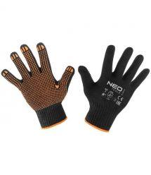 """Neo Tools 97-620-8 Перчатки рабочие, хлопок и полиэстер, пунктир, 8 """""""