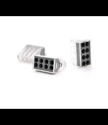 Клемма с зажимом 8-проводная WAGO K773-108 для распределительных коробок, 8-pin, прозрачно-черная