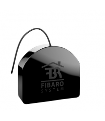 Fibaro Умное реле Double Smart Module, 9.5A, Z-Wave, 24-30V DC/ 230V AC, 2 сухих контакта, черный