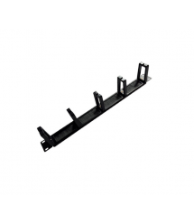 Кабельный органайзер 19, корпус-металл + пластик, 1U - 5 колец, Q50