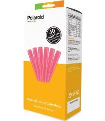 Набор картриджей Polaroid для 3D ручки Polaroid Candy pen, клубника, розовый (40 шт)