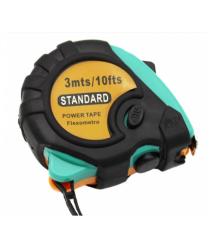 Рулетка обрезиненная STANDART, 3м, Q48