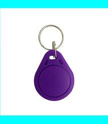 Брелок плоский бесконтактный RFID с кодом EM4100 EM Marine 125Khz (пластик, цвет фиолетовый), цена за штуку