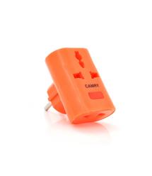 Розетка тройник универсальный Т- образный YT162, Orange, Q12