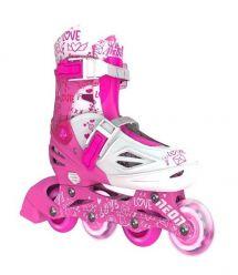 NEON Ролики Inline Skates[Розовый (Размер 30-33)]