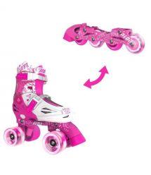 NEON Ролики Combo Skates[Розовый (Размер 30-33)]