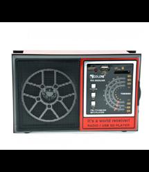 Радиоприемник Proinstal SL-663RQ, LED,2x3W, FM радио, Входы microSD, USB, AUX, корпус паласмасс, Black, BOX