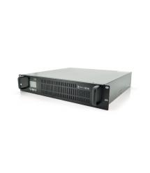 ИБП с правильной синусоидой ONLINE Ritar RT-1KS-LCD, RACK 1000VA (900Вт), 24 В, Встроенная батарея 12V 7,5 Ah х 2 шт (482*440*87