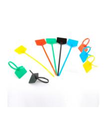 Стяжки нейлон с маркером 3х100mm желтые (500шт) высокое качество, диапазон рабочих температур: от -45С до +80С, цена за штуку
