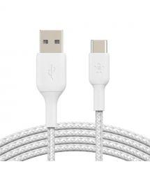 Кабель Belkin USB-A - USB-С, BRAIDED, 3m, white
