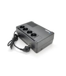 ИБП Merlion Terra 800 (480W) LED, 162-290VAC, AVR 1st, 4 SCHUKO (3*BatteryBackup + 3* Surge), 1x12V5Ah, plastik Case Q4 (245x163