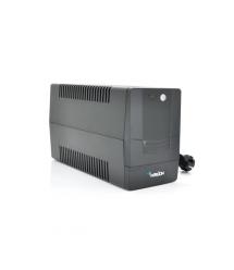 ИБП Merlion Velli 1K (600W) LED, 162-290VAC, AVR 1st, 4 SCHUKO, 2x12V7Ah, plastik Case Q2 (320x130x182) 8,2кг