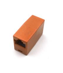Соединитель RJ45 8P8C мама - мама RJ45 для соединения кабеля, оранжевый, Q100