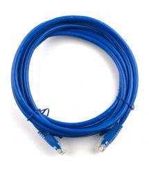 Патч-корд литой RITAR, CCA, UTP, RJ45, Cat.5e, 1m, синий Q500