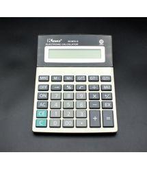 Калькулятор офисный КК-8875-12, 34 кнопки, серебристый, размеры 190*145*40мм, Box