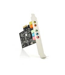 Звуковая карта PCI-E - 5.1CH (c-media 8738), 3D 4.1, Windows 98 / Windows2000 / XP / NT win7 32 / 64, BOX