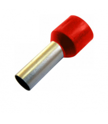 Наконечник кабельный, винтовая фиксация, диаметр 4мм, красный, 100 штук в упаковке, цена за штуку