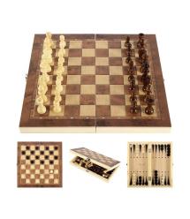 Игровой набор 3 в 1 (шахматы, шашки, нарды), 290x290х40mm, 72 штуки в упаковке