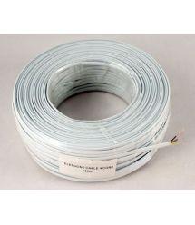 Телефонный кабель 4-жилы., плоский, медный, белый