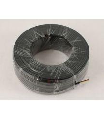 Телефонный кабель 4-жилы., плоский, медный, черный
