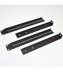 Комплект фиксаторов однорамной стойки к стене, черный