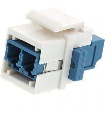 Адаптер LC SM Duplex, Keysone, LW, белый