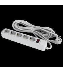 Сетевой фильтр 5 розеток 10 м серый ОЕМ (LP-X5)