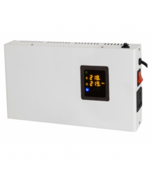 Стабилизатор напряжения релейный настенного монтажа Europower SLIM-10000SBR LED, 10KVA 9000W, 140-270Vac, SHUKO2, Q1 (515*270*20