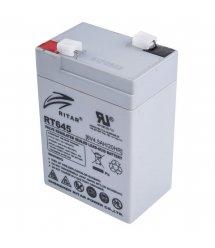 Аккумуляторная батарея свинцово-кислотная AGM RITAR RT645 Gray Case 6V 4.5Ah 20