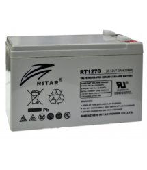 Аккумуляторная батарея AGM RITAR RT1270, Gray Case, 12V 7.0Ah ( 151 х 65 х 94 (100) ) Q10