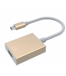 Конвертер Type-C (папа) на HDMI(мама) 10cm, GOLD, 4K / 2K, Пакет