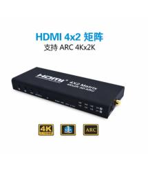 HDMI сплиттер Matrix 4X2, 4K 2K 3D (220*168*53) 0.6 кг