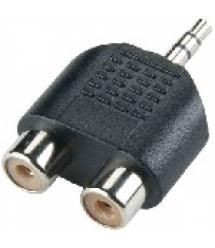 сплиттер Jack 3.5 (папа) / 2 RCA (мама), Техпакет, Q100