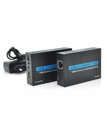 Одноканальный активный удлинитель HDMI сигнала по UTP кабелю. Дальность передачи: до 120метров, cat5e / cat6e 1080P / 3D с блоко