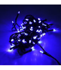Гирлянды 100LED (Свечка) Blue, 8 режимов, 5 метров, черная изоляция, BOX