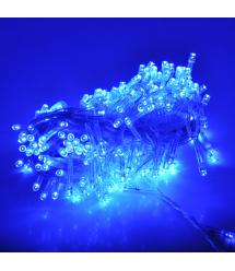 Гирлянды 100LED (Шестигранник Big) Blue, 8 режимов, 5 метров, белая изоляция, BOX