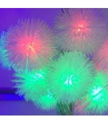 Гирлянды 40LED (Ежевика) Red / Green / Blue / Yellow, 1 режим, 5метров, прозрачная изоляция, Пакет