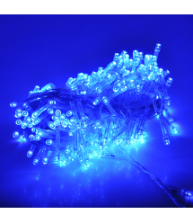 Гирлянды 120LED (Штора) Blue, 8 режимов, 3 метра, прозрачная изоляция, BOX